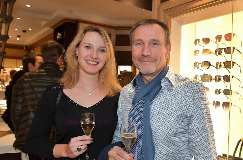 Soirée bijouterie Junod. Kimberley et Christian Gygi. © Valdemar VERISSIMO