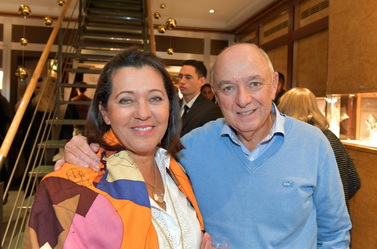 Soirée bijouterie Junod. Marilene et Bertrand Duvoisin. © Valdemar VERISSIMO